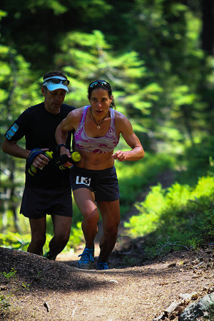 Tough-as-nails Caren Spore charges up the hill
